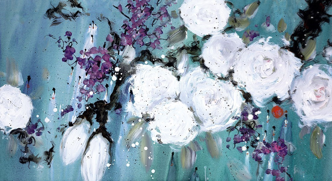 Pure Love by Danielle O'Connor Akiyama - Embellished Canvas on Board sized 28x15 inches. Available from Whitewall Galleries